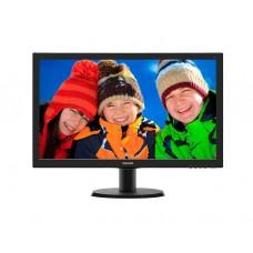 """მონიტორი: Philips  243V5LHSB/00  23.6"""" FHD  1ms  VGA HDMI DVI-D Black"""