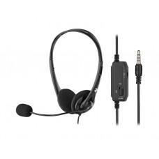 ყურსასმენი: 2E CH11 PC Headset Black - 2E-CH11SJ