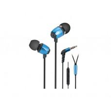ყურსასმენი: 2E S6 PINION Earphones With Microphone Blue - 2E-IES6BL
