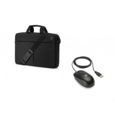 """ჩანთა: HP Prelude Top Load Bag+Mouse 15.6"""" Black - 2MW64AA"""