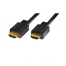 კაბელი: Logilink CHB005 HDMI 2.0 PREMIUM Cable, 28AWG,  A-A ,  3,0m, black