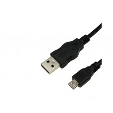 კაბელი: Logilink CU0034 USB Cable, USB 2.0, AM to Micro BM, black, 1,8m