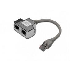 ადაპტერი: Digitus DN-93904  RJ45 CAT 5e Adapter 0.19m Black