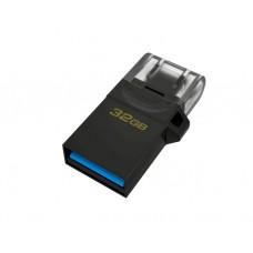 ფლეშ მეხსიერება: Kingston DataTraveler microUSB DT microDuo OTG 32GB USB3.2 G2 - DTDUO3G232GB
