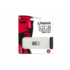 ფლეშ მეხსიერება: Kingston DTMicro 32GB Metal USB 3.1 Silver - DTMC3/32GB