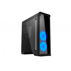 ქეისი: GameMax Elysium 2x120mm Blue Led Fan Mid Tower Case Black