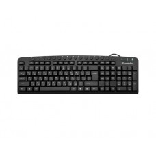 კლავიატურა: Defender Focus HB-470 RU Wired Keyboard Black - 45470