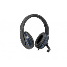 ყურსასმენი: Defender Warhead G-160 Gaming Headphones with microphone Black/Blue - 64118