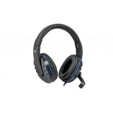 ყურსასმენი: Defender Warhead G-160 Gaming Headphones with microphone Black/Blue - 64118