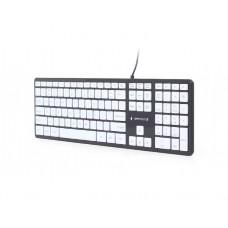 კლავიატურა: Gembird KB-MCH-02-BKW Chocolate Keyboard US layout black body white keys