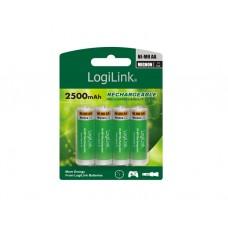 ელემენტი: Logilink LR6RB4 Battery, Rechargeable, NiMH, AA, 4pcs. Blister