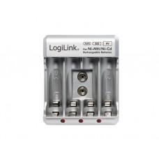 სამუხტი: Logilink PA0168 Battery Charger 4x AA or 4x AAA and 1x 9V battery