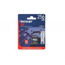 მეხსიერების ბარათი: Patriot EP Series 256GB MICRO SDXC V30 UHS-1 U3 C10 - PEF256GEP31MCX