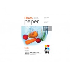 ფოტო ქაღალდი: ColorWay Photo Paper MC108 Matte Coated  108 g/m²  A4  100pc - PM108100A4