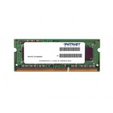 ოპერატიული მეხსიერება: Patriot DDR3 4GB 1600MHz SODIMM 1.35V - PSD34G1600L2S