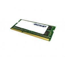 ოპერატიული მეხსიერება: Patriot DDR3 8GB 1600MHz SODIMM 1.35V - PSD38G1600L2S