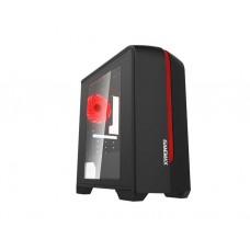 ქეისი: GameMax Centauri H601BR 1x120mm Red LED Cooler Black/Red
