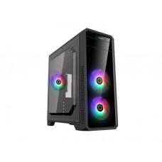 ქეისი: GameMax G561-FRGB 3x120mm Fixed RGB Fan Mid-tower Case Black