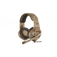 ყურსასმენი: TRUST GXT 310D RADIUS GAMING HEADSET - DESERT CAMO - 22208