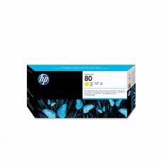 კარტრიჯი ჭავლური: HP 80 C4823A Printhead and Printhead Cleaner Yellow