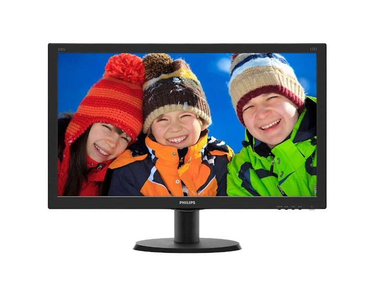 Monitor: Philips 240V5QDSB 23.8'' Full HD LED 5ms 1000:1 VGA DVI HDMI