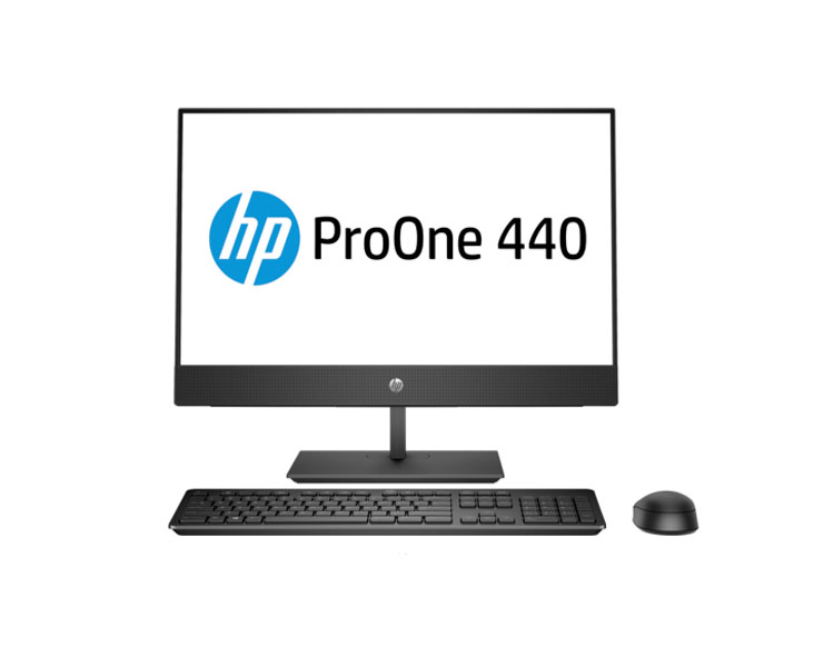 "ALL IN ONE Computer: HP ProOne 440 G4 23.8"" Intel Core i5-8500T 4 GB 1TB DVD Black - 4NT87EA"