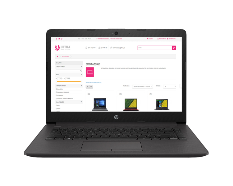 "Notebook: HP 240 G7  14""  HD  Intel Core i5-8265U   4GB   1TB  No ODD Free DOS  Dark Ash Silver - 6BQ00EA"