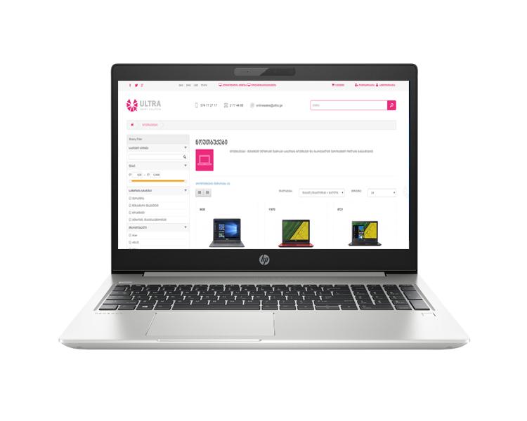 """ნოუთბუქი: HP ProBook 450 G6 15.6"""" FHD Intel i5-8265U 8GB SSD 256GB - 6EC66EA"""