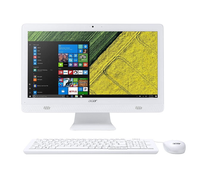 "All IN ONE Computer: Acer Aspire C20-820  19.5""  HD+  Intel Pentium J3710 4GB  500GB  DVD-RW Free DOS White - DQ.BC6MC.001"