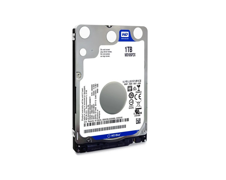 Notebook HDD: Western Digital Blue WD10SPZX 1TB 5400rpm SATAIII 2.5