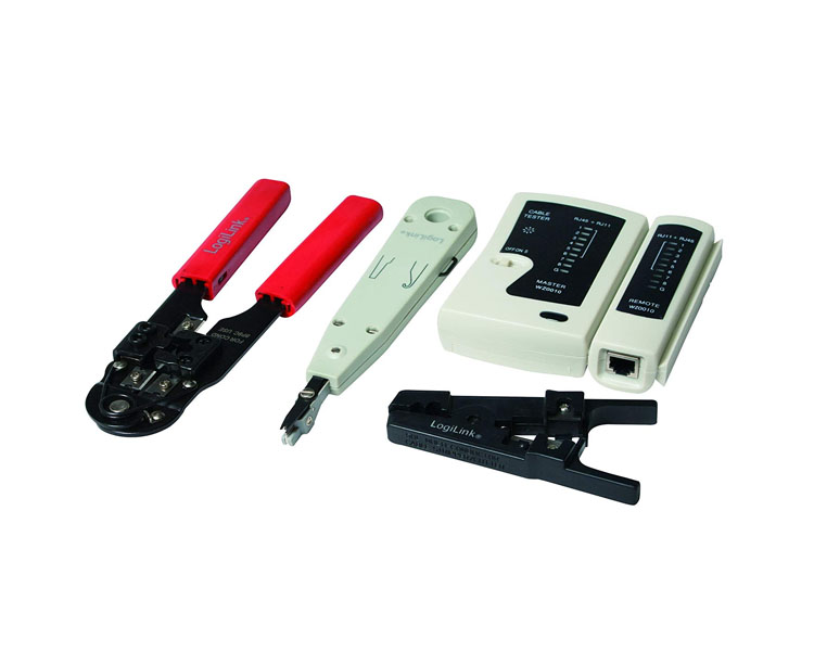 Tool kit: Logilink WZ0012 Tool and Tester set For Networking 4 parts