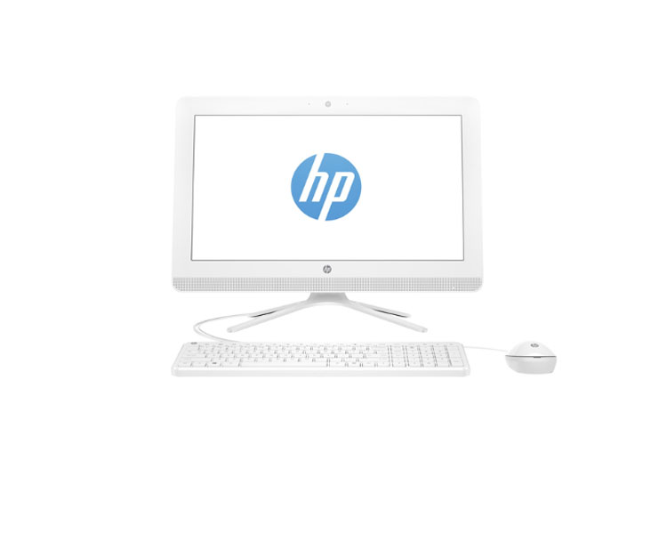 "ALL IN ONE Computer: HP All-in-One PC  19.5"" Intel Celeron  J3060 4GB 500GB DVD Snow White - Y1A11EA"