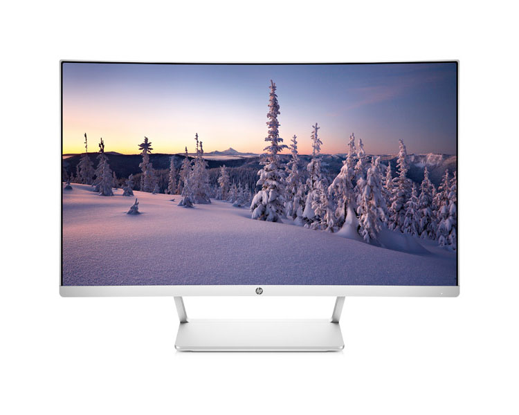 "Monitor: HP 27 curved  27""  FHD  5ms  3000 : 1  HDMI  DP  White - Z4N74AA"