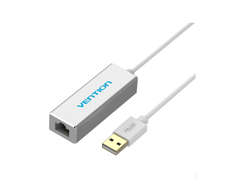 Adapter: Vention Aluminum CEEIB USB2.0 to 100Mbps Ethernet Adapter 0.15m