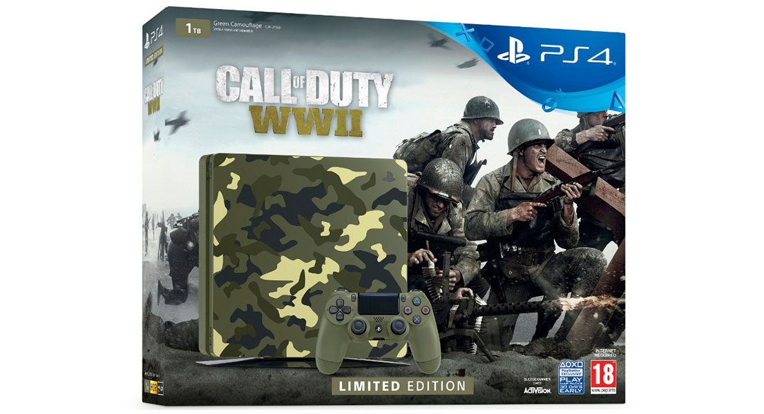 Console: Playstation 4 1TB with Call Of Duty WWII Limited Edition Green Camo