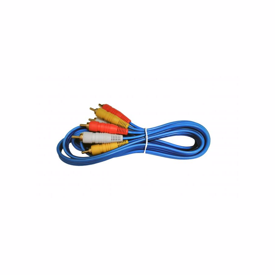 Audio Cable: Stereo Cable 3xRCA male 1.5M