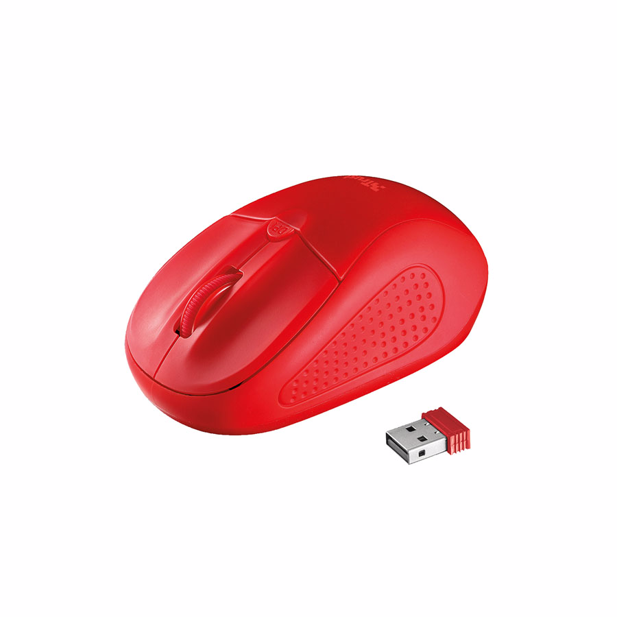 Mouse: TRUST PRIMO WIRELESS MOUSE Red 20787