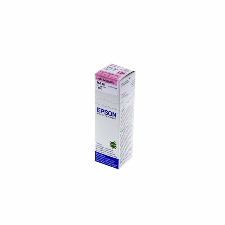 Ink: Epson L800 Ink Bottle C13T67364A Light Magenta Original
