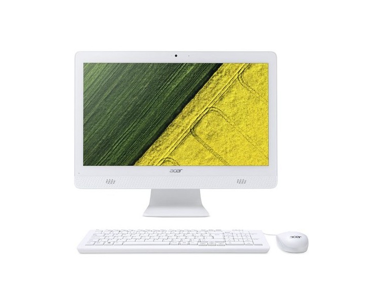 "All IN ONE Computer: Acer  Aspire  C20-720  19.5""  HD+  Intel Celeron  J3060  4GB  500GB  DVD-RW  Free DOS  White - DQ.B6XMC.001"