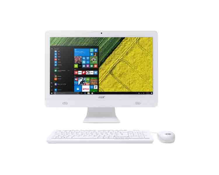 "All IN ONE PC: Acer Aspire C20-720 AIO 19.5 ""Intel Celeron J3060 4GB 500GB DVD-RW White"